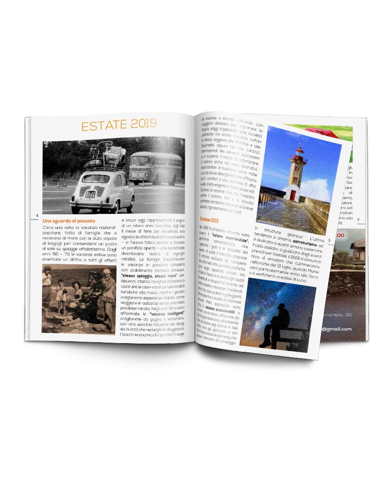 progetto impaginazione rivista - vista pagine