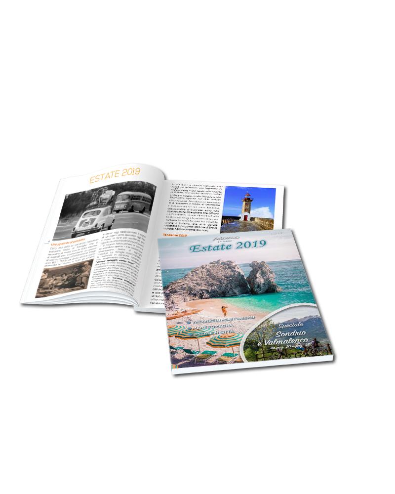 progetto impaginazione rivista - vista copertina e pagine