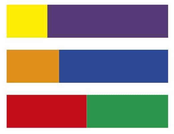 equilibrio cromatico di quantità