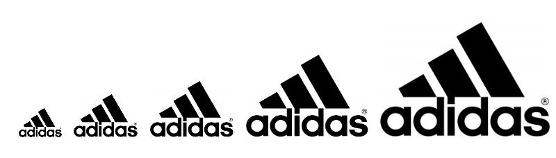logo adidas - scalabilità